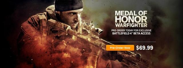 battlefield 4 beta medal of honor warfighter origin