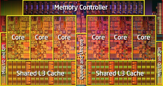 core i7 980x die shot