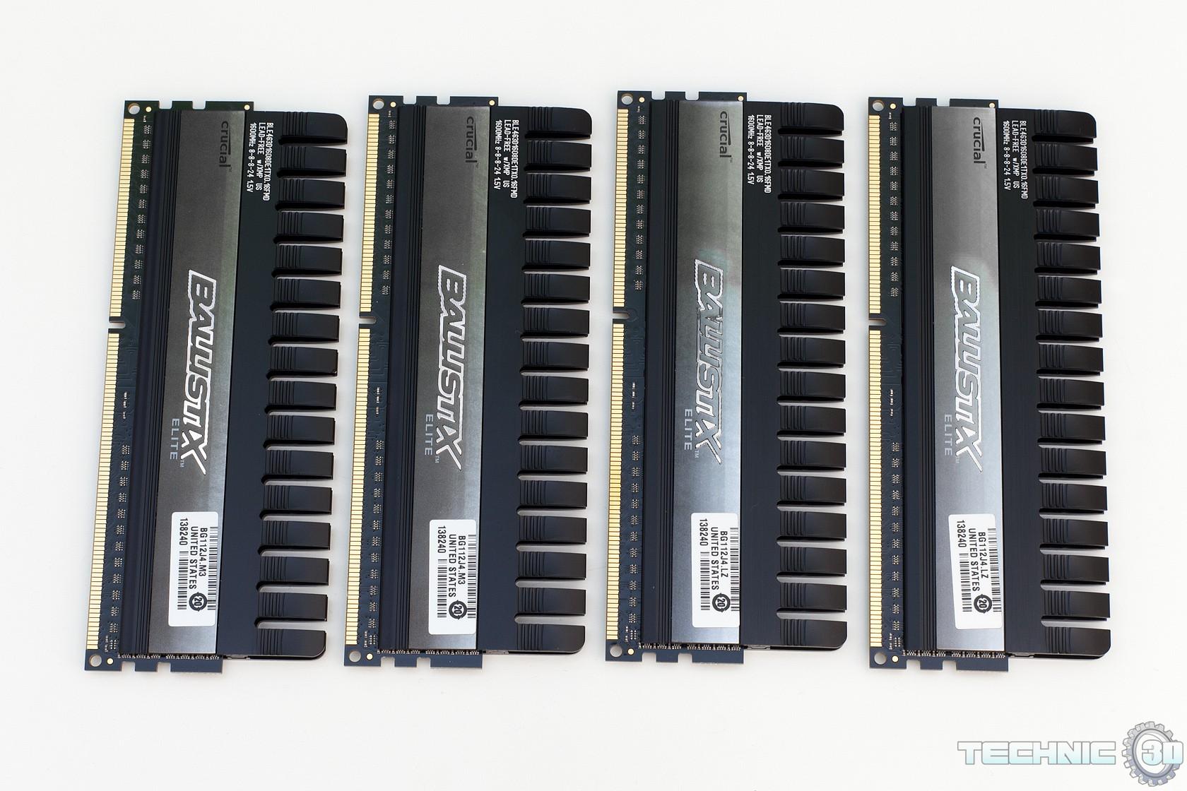 Crucial Ballistix Elite 16GB DDR3 1600 Speicherkit im Test | Review