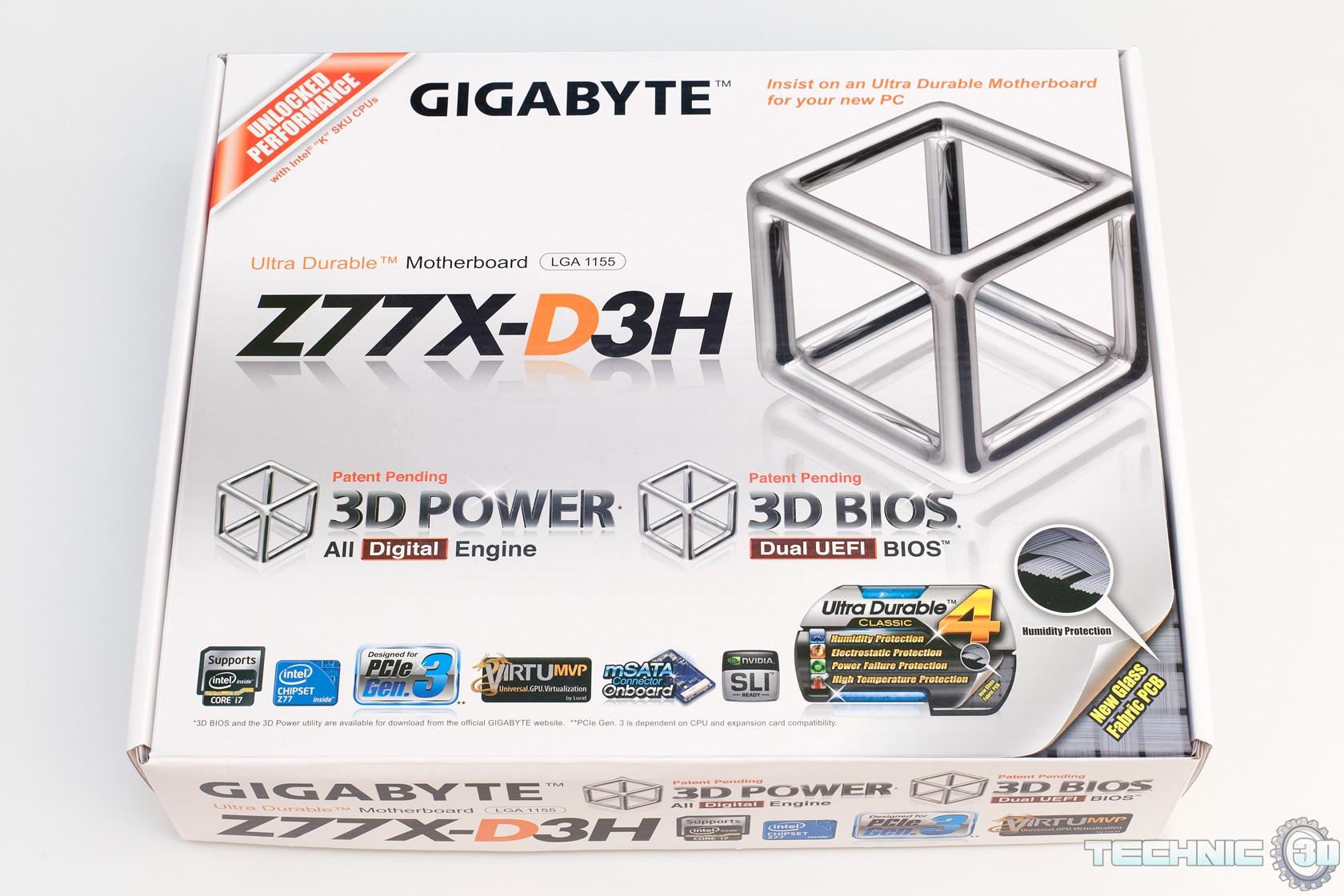 Gigabyte Z77X-D3H Mainboard im Test | Review | Technic3D