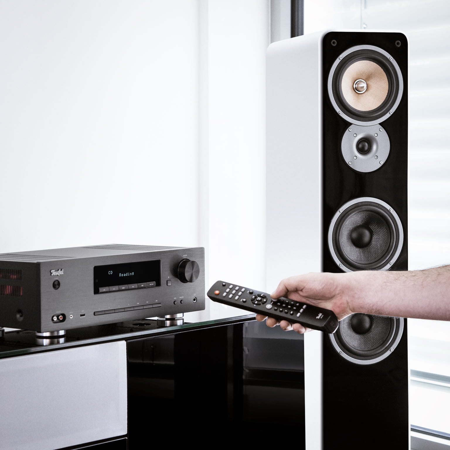 im test hifi stereo anlage teufel kombo 62 audio. Black Bedroom Furniture Sets. Home Design Ideas