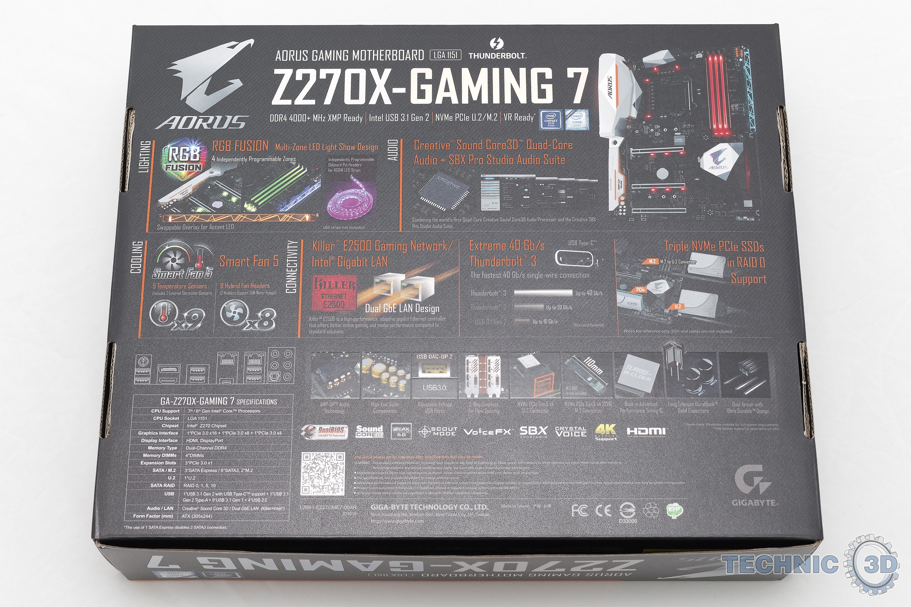 Gigabyte AORUS Z270X-Gaming 7 Mainboard im Test | Review | Technic3D