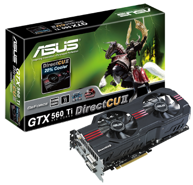 PR ASUS GTX 560 Ti 448 Cores DirectCU II Graphics Card with Box