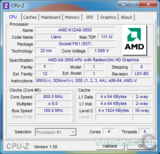 amd a8 3850 cpu z idle