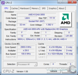 amd a8 3850 cpu z load