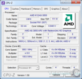 amd a8 3850 cpu z uv idle