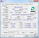 amd a8 3850 cpu z uv load