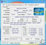 intel core i5 4670k cpu z idle