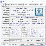 Intel Core i7 7700k cpu z 1