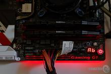 Gigabyte Z170X Gaming G1 LED Beleuchtung top red