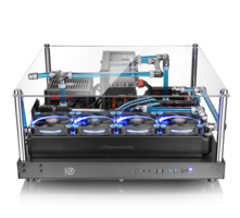Thermaltake Core P5 ATX Open Frame Panoramic Viewing Gaming Computer Chassis has a 3 Way Placement Layout