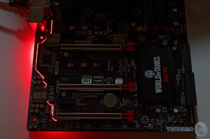 Gigabyte Z170X Gaming 3 Beleuchtung