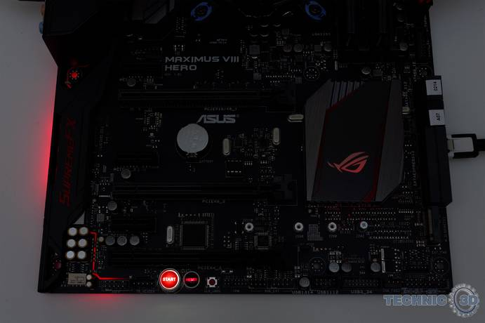 ASUS Maximus VIII Hero Z170 Mainboard Beleuchtung 1